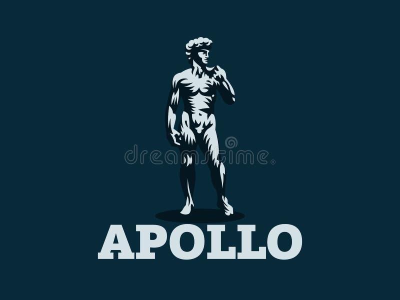 Estatua de David o de Apolo stock de ilustración