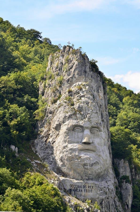 Estatua de Decebal imagenes de archivo