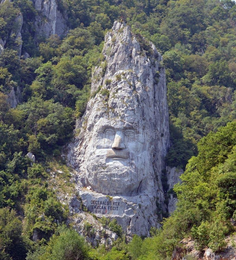 Estatua de Decebalus Rex fotos de archivo libres de regalías