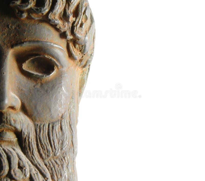 Estatua de dios del griego clásico fotografía de archivo