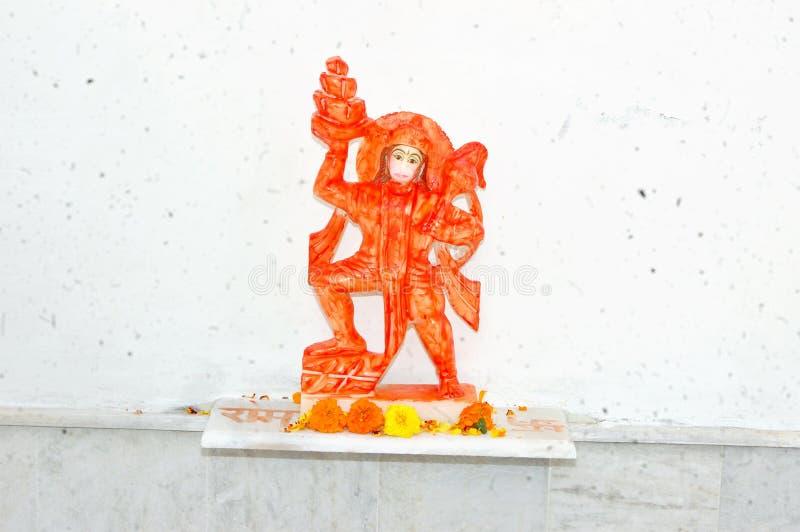 Estatua de dios hindú Hanuman fotografía de archivo libre de regalías