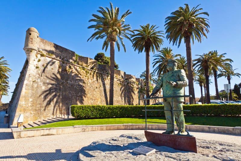 Estatua de Dom Carlos I, rey de Portugal, Cascais, Portugal foto de archivo libre de regalías