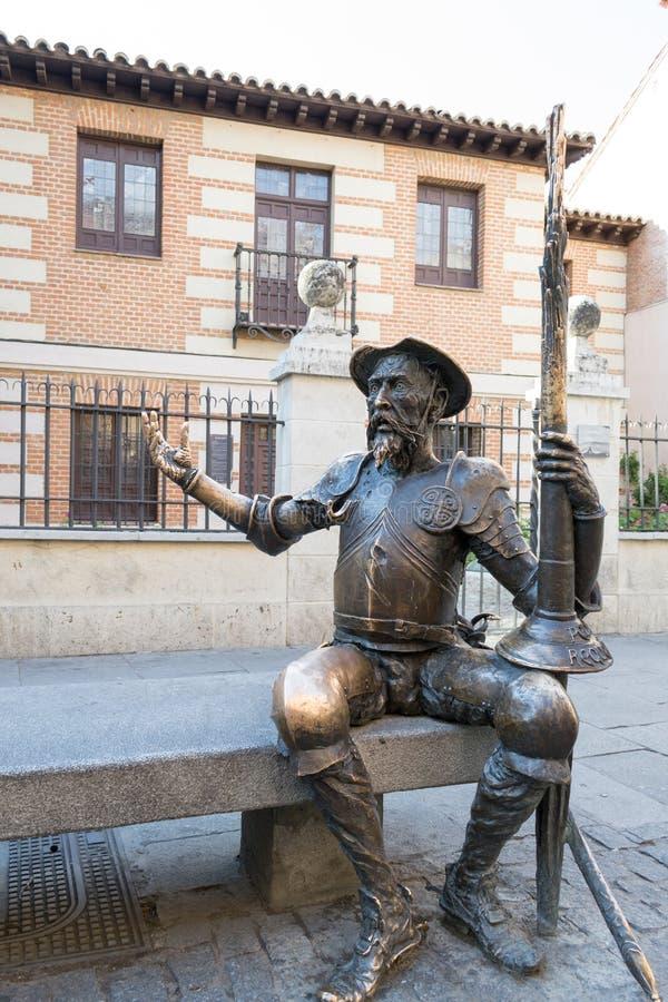 Estatua de Don Quiote fotos de archivo