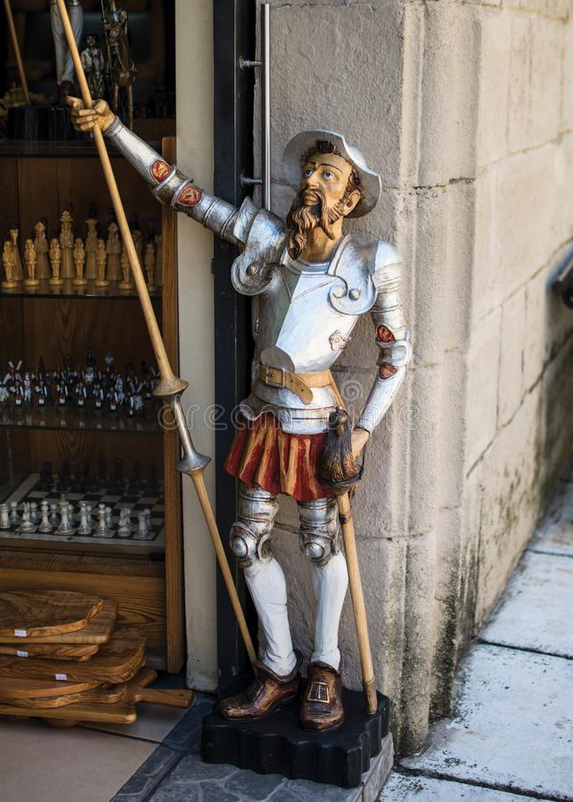 estatua de Don Quixote fotos de archivo libres de regalías