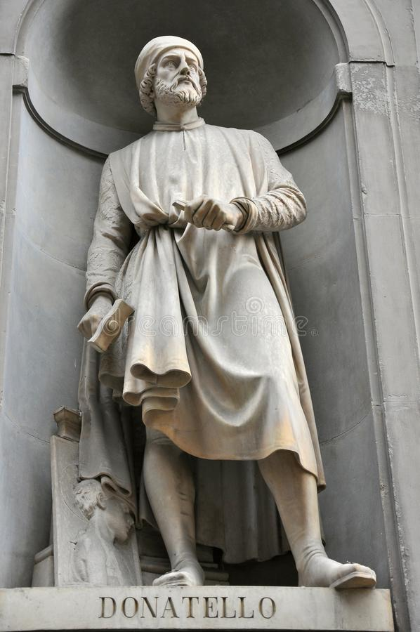 Estatua de Donatello foto de archivo