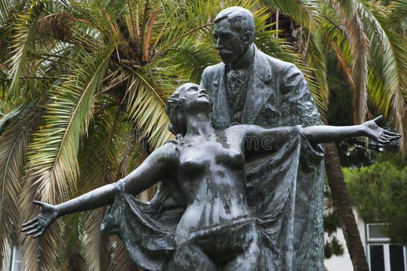 Estatua de Eca de Queiros en Portugal. imágenes de archivo libres de regalías