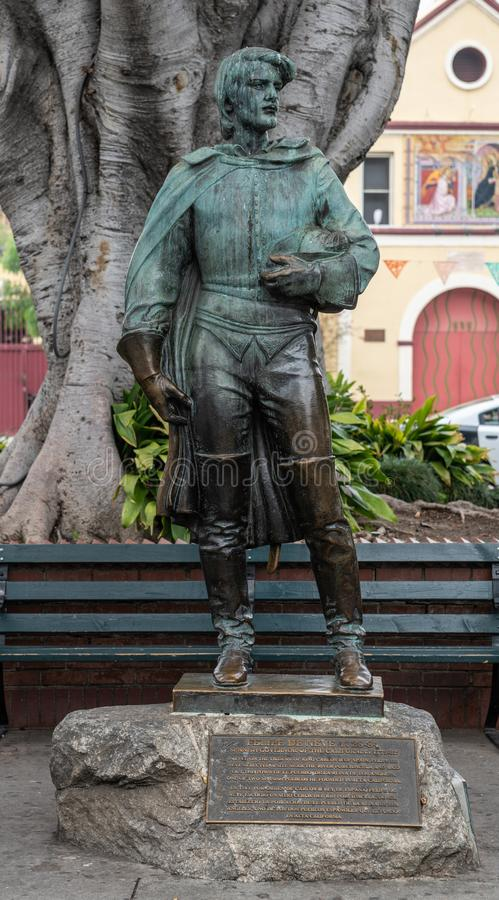 Estatua de Felipe De Neve, fundador de Los Ángeles California fotos de archivo