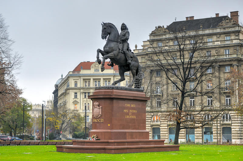 Estatua de Ferenc II Rakoczi - Budapest, Hungría fotos de archivo