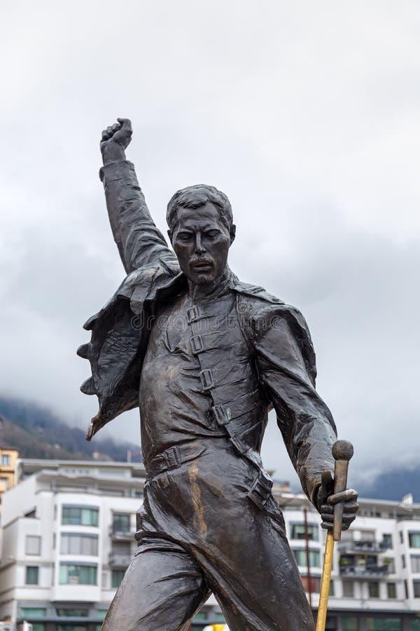 Estatua de Freddie Mercury imágenes de archivo libres de regalías