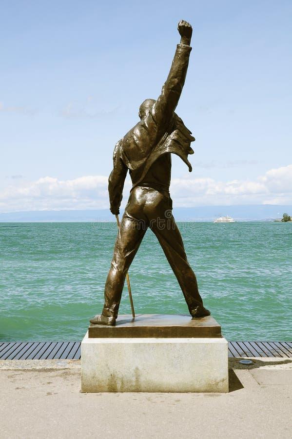 Estatua de Freddie Mercury fotos de archivo libres de regalías