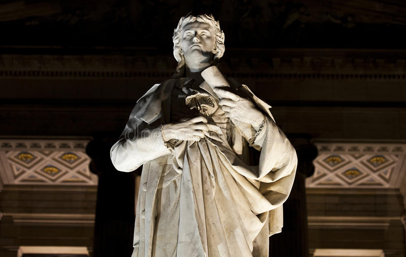 Estatua de Friedrich Schiller en Berlín foto de archivo