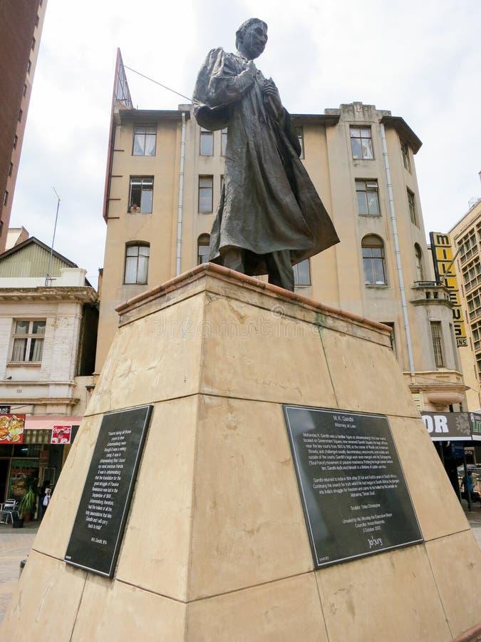 Estatua de Gandhi - Johannesburgo, Suráfrica imagen de archivo