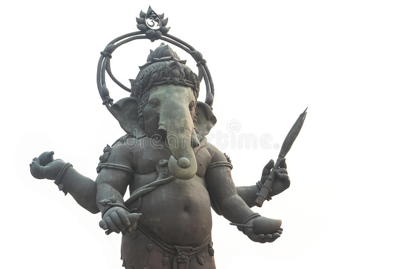 Estatua de Ganesh, aislante imágenes de archivo libres de regalías