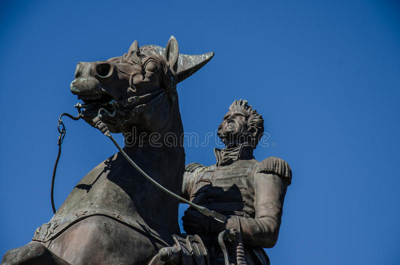 Estatua de general Andrew Jackson - Jackson Square - New Orleans fotos de archivo
