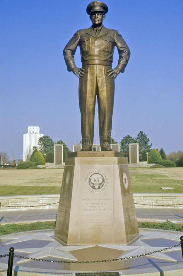Estatua de general Dwight D eisenhower Abilene, Kansas foto de archivo