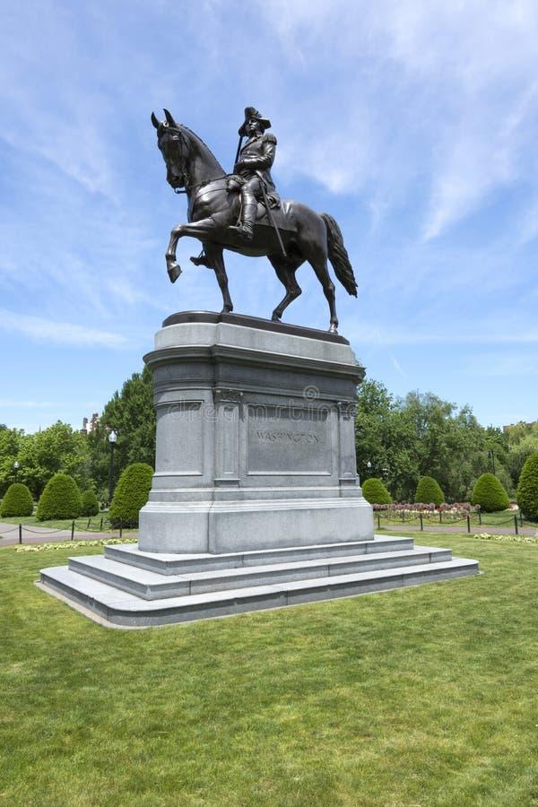 Estatua de George Washington en Boston fotos de archivo libres de regalías