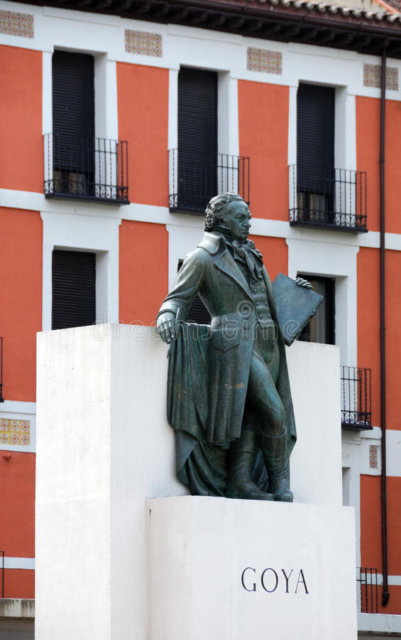 Estatua de Goya fotos de archivo libres de regalías