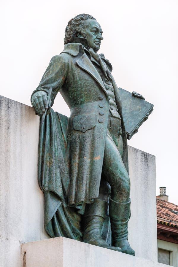 Estatua de Goya fotografía de archivo