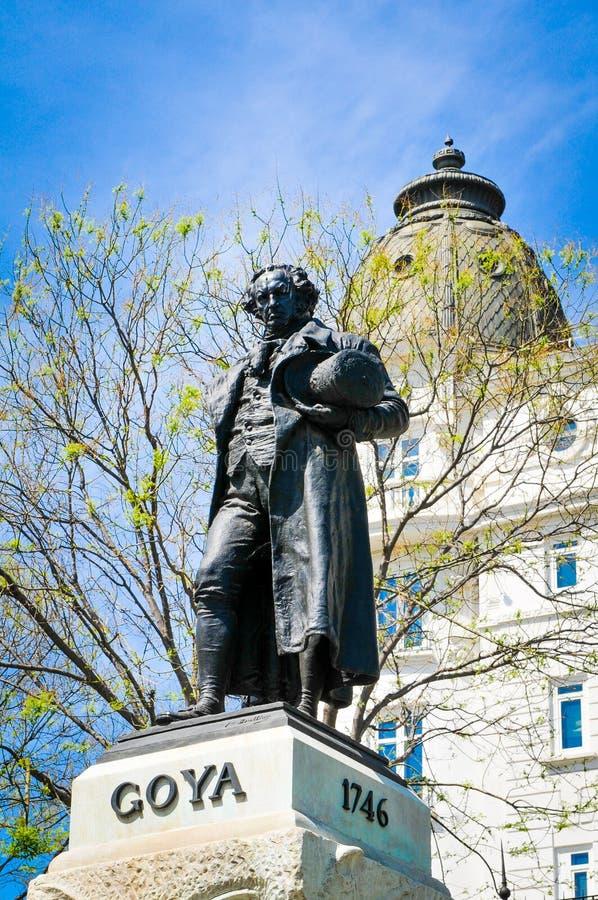 Estatua de Goya imagen de archivo libre de regalías