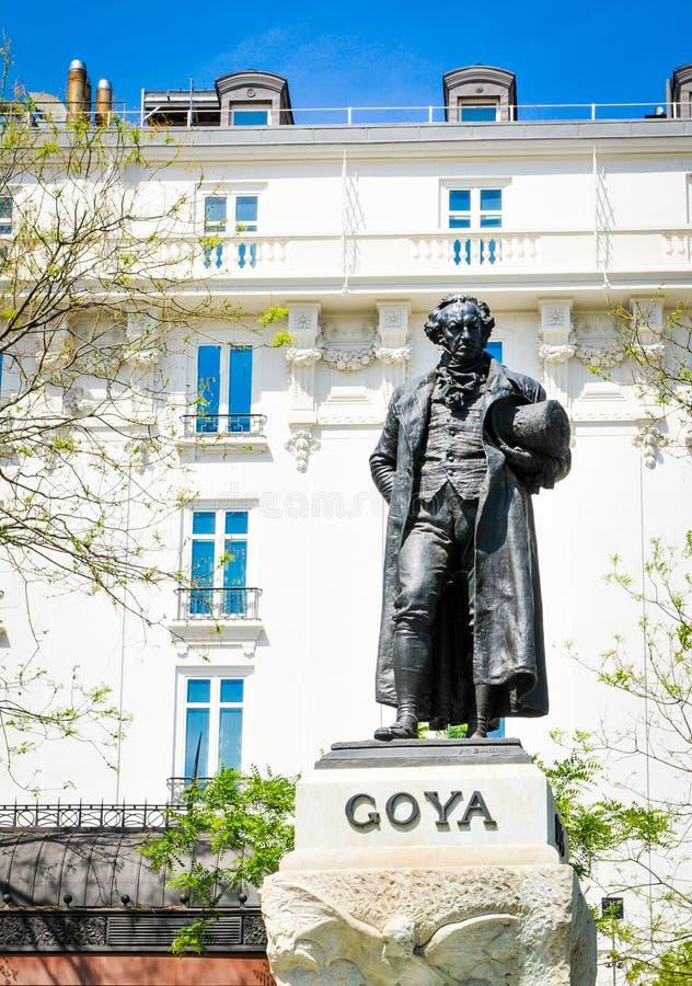 Estatua de Goya foto de archivo