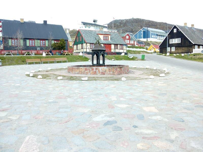 Estatua de Groenlandia Qaqortoq fotografía de archivo