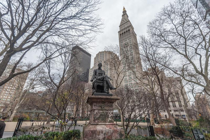 Estatua de Guillermo H seward fotografía de archivo