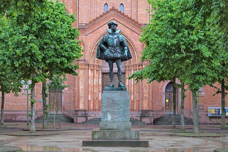 Estatua de Guillermo I, príncipe de la naranja, en Wiesbaden, Alemania imagenes de archivo