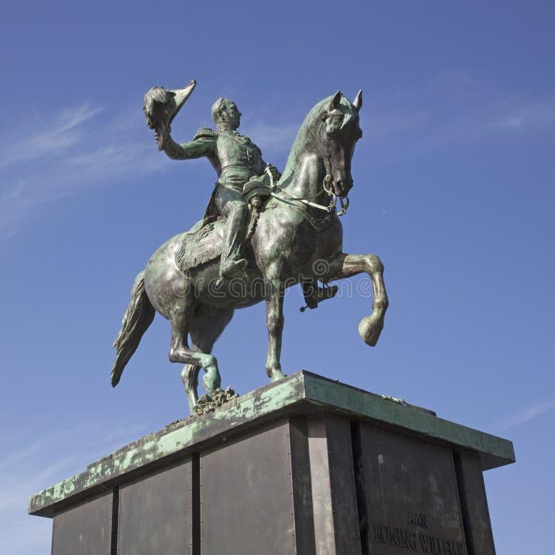 Estatua de Guillermo II en La Haya fotografía de archivo libre de regalías