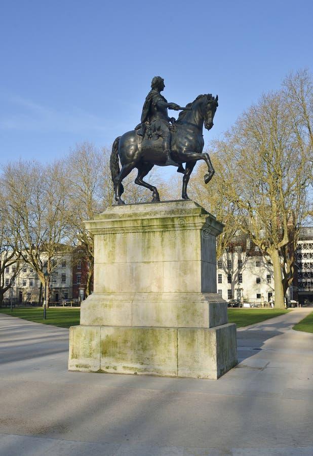 Estatua de Guillermo III fotografía de archivo