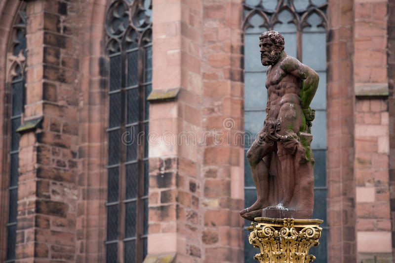 Estatua de Hércules fotografía de archivo
