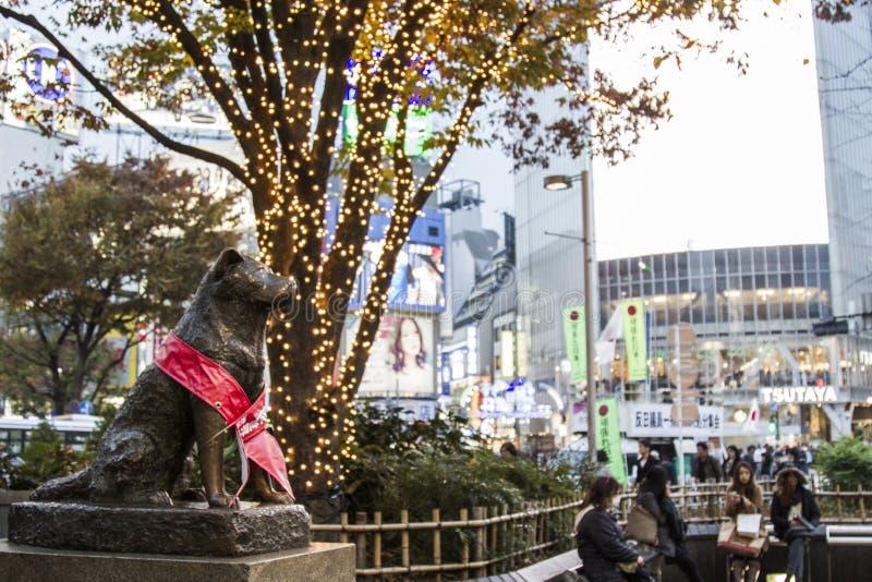 Estatua de Hachiko Hachiko imágenes de archivo libres de regalías