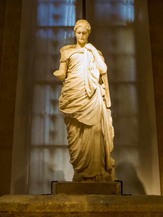 Estatua de Higeia, Museo Nacional de Beirut, Líbano imagen de archivo