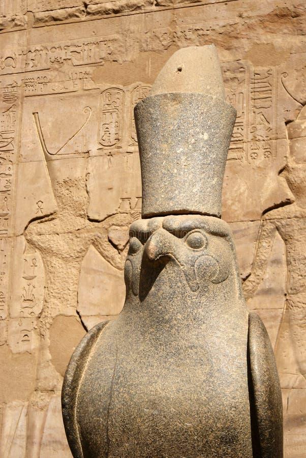 Estatua de Horus fotografía de archivo