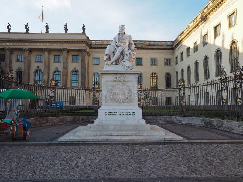 Estatua de Humboldt en Berlín foto de archivo libre de regalías