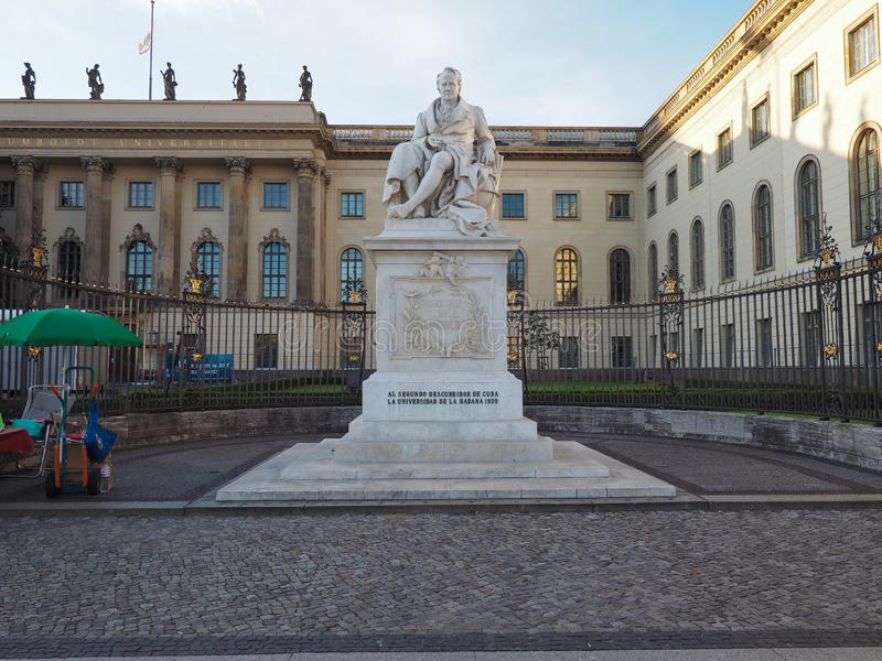 Estatua de Humboldt en Berlín fotos de archivo