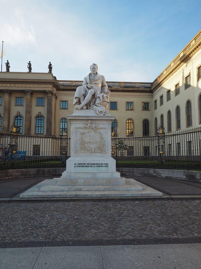 Estatua de Humboldt en Berlín fotografía de archivo