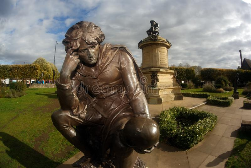 Estatua de Inglaterra Stratford-Sobre-Avon Hamlet foto de archivo libre de regalías
