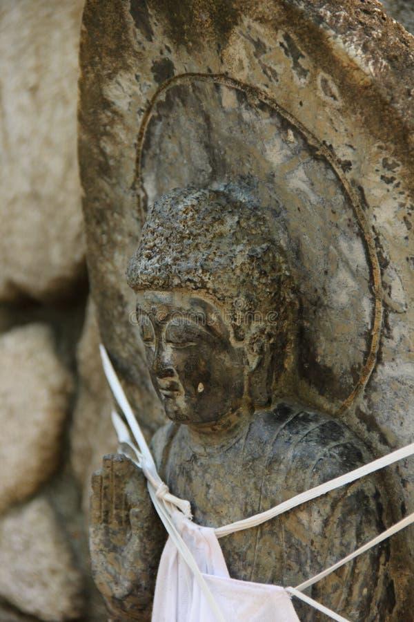 Estatua de Jizo fotografía de archivo