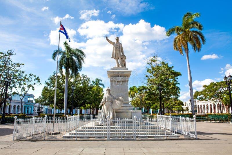 Estatua de Jose Marti en Jose Marti Park fotos de archivo libres de regalías