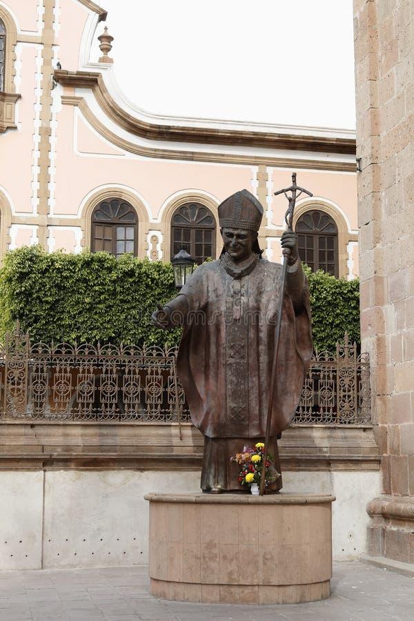Estatua de Juan Pablo II, León, Guanajuato imagen de archivo