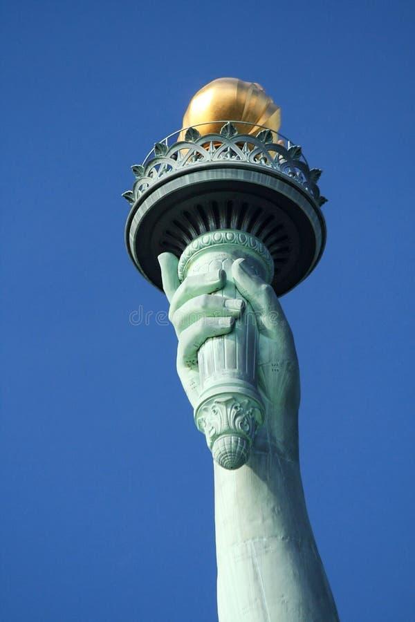 Estatua de la antorcha de la libertad imagenes de archivo