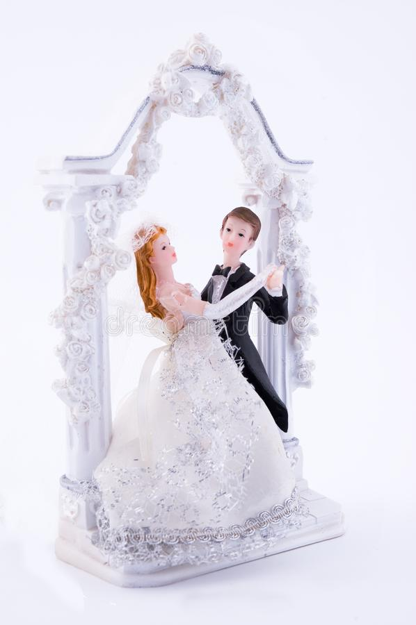 Estatua de la boda fotografía de archivo libre de regalías