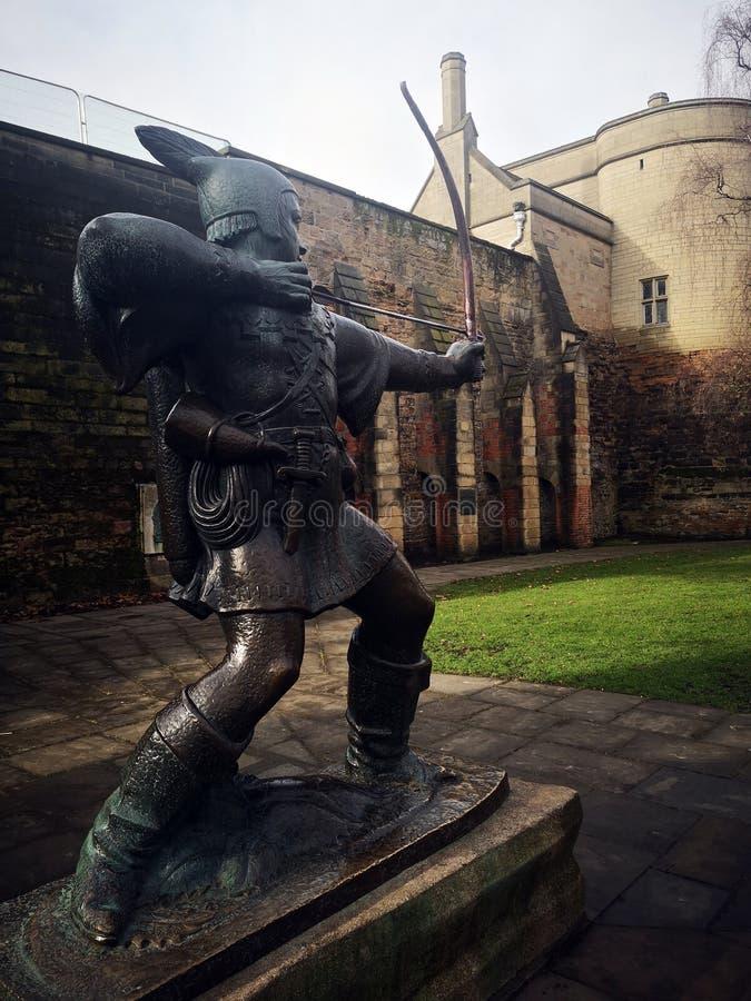 Estatua de la capilla del petirrojo en Nottingham, Inglaterra fotografía de archivo
