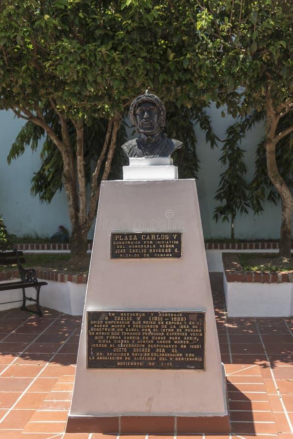 Estatua de la ciudad vieja de Carlos V Panamá del emperador foto de archivo libre de regalías
