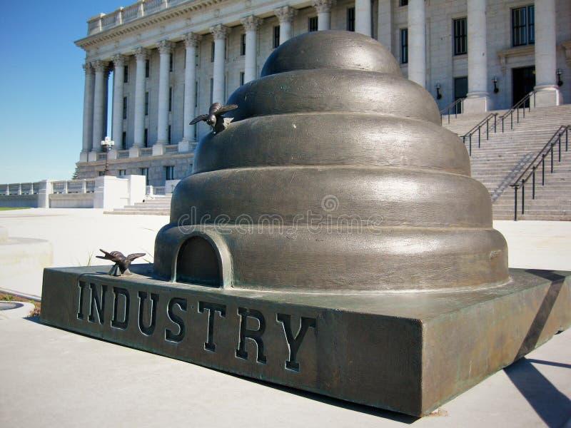 Estatua de la colmena de Utah fotos de archivo libres de regalías