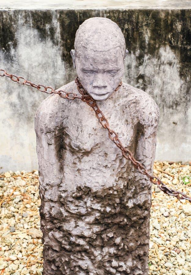 Estatua de la esclavitud imagen de archivo