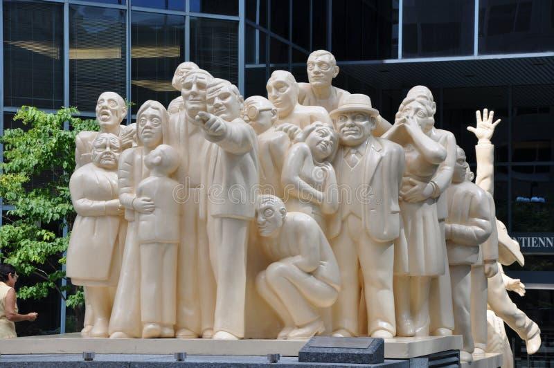 Estatua de la gente de la mantequilla en Montreal fotos de archivo libres de regalías