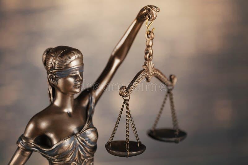 Estatua de la justicia fotografía de archivo
