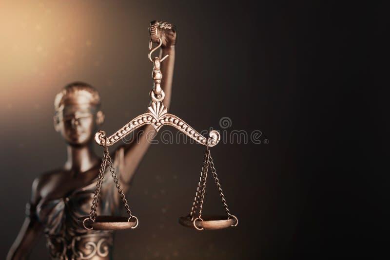 Estatua de la justicia foto de archivo libre de regalías