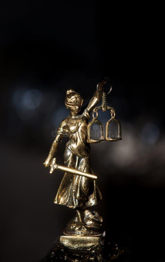 Estatua de la justicia, concepto de la ley, imagen de archivo